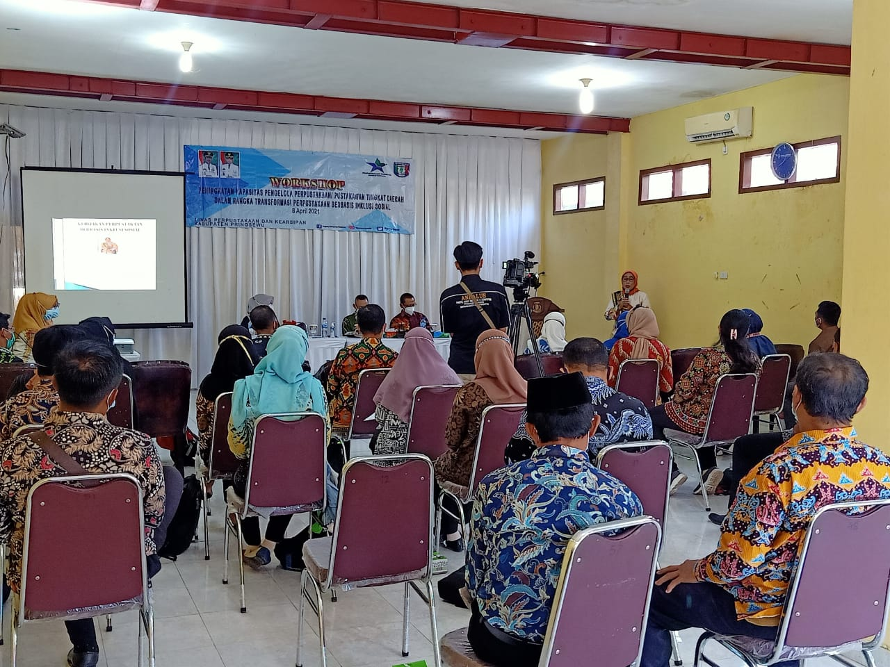 DISPERPUSIP GELAR WORKSHOP PENGELOLA PERPUSTAKAAN PEKON